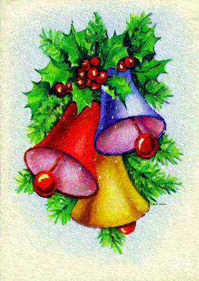 Digital Art - Christmas Bells by Rafael Salazar