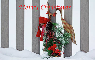 Photograph - Christmas Bench - Merry Christmas by Debbie Oppermann