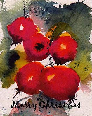 Painting - Christmas Berries by Anne Duke