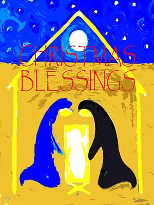 Joy Mixed Media - Christmas Blessings 4 by Patrick J Murphy