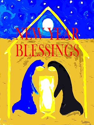 Mother Mary Mixed Media - Christmas Blessings 6 by Patrick J Murphy