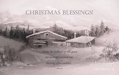 Painting - Christmas Blessings by Hazel Holland