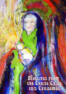 Mixed Media - Christmas Blessings by Jodie Marie Anne Richardson Traugott          aka jm-ART