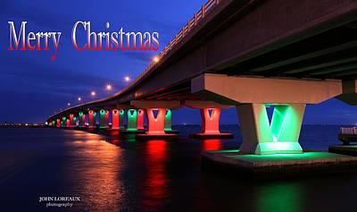Somer Photograph - Christmas Bridge by John Loreaux
