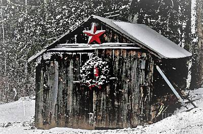 Photograph - Christmas Cabin Watercolor by Paulette Thomas