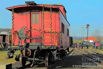 Photograph - Christmas Caboose by Tami Quigley