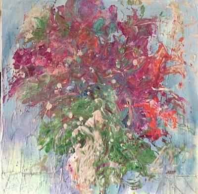 Painting - Christmas Cactus by Karen Ann Patton