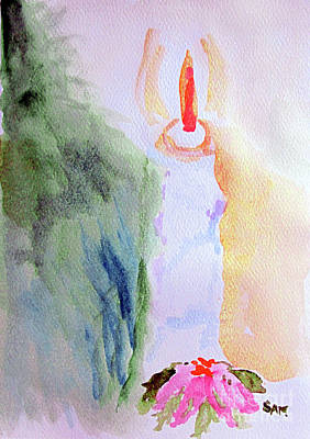 Painting - Christmas Candle 1 by Sandy McIntire