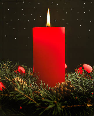Photograph - Christmas Candle by Utah Images