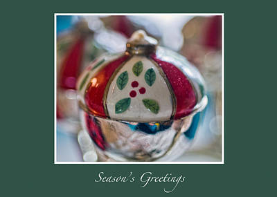Photograph - Christmas Candle Greeting Card by Ginger Wakem