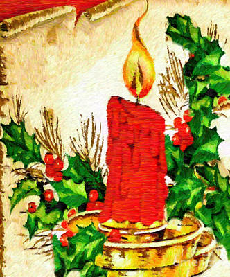 Digital Art - Christmas Candle by Rafael Salazar