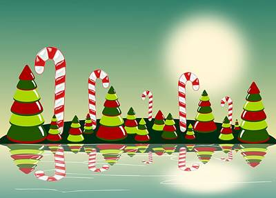 Digital Art - Christmas Candy Island by Anastasiya Malakhova