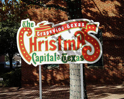 Photograph - Christmas Capital Of Texas by Allen Sheffield