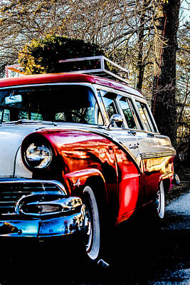 Southern Maine Photograph - Christmas Car by Victory  Designs