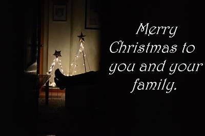Merry Christmas Digital Art - Christmas Card by Britten Adams