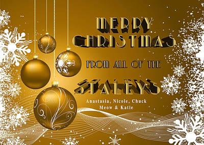 Digital Art - Christmas Card by Chuck Staley