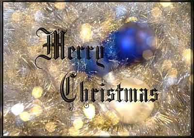 Photograph - Christmas Card Design Merry Christmas by Karen Musick