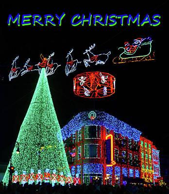 Walt Disney World Digital Art - Christmas Card Disney Style by David Lee Thompson