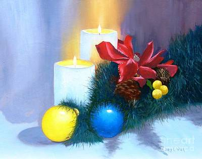Painting - Christmas Card by Jerry Walker