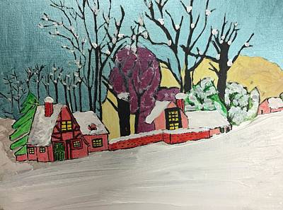 Painting - Christmas Card by Paula Brown
