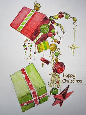Painting - Christmas Card by Teresa Smith