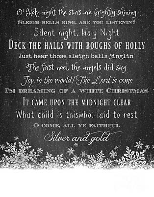 Winter Digital Art - Christmas Carols by Inspired Arts