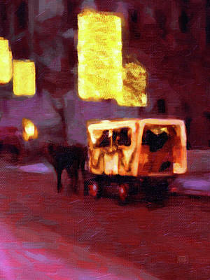 Painting - Christmas Carriage Ride In Vienna by Menega Sabidussi