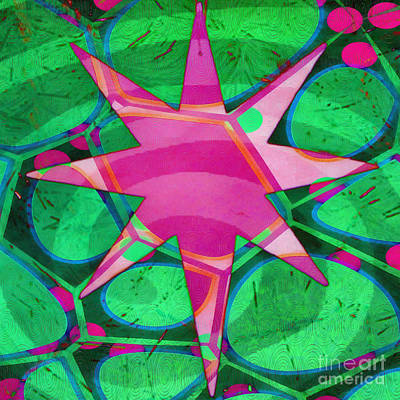 Painting - Christmas Celebration Abstract Painting by Edward Fielding