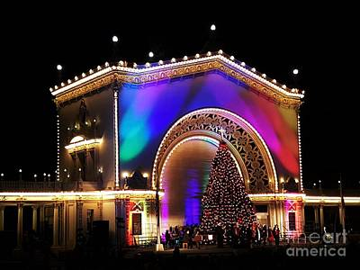 Christmas Celebration In San Diego  Art Print