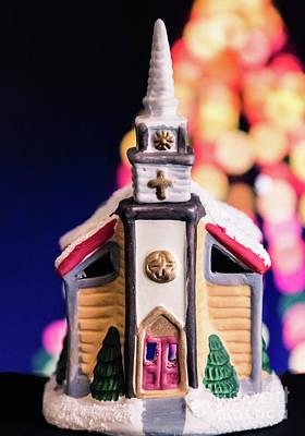 Photograph - Christmas Chapel 2 by Andrea Anderegg