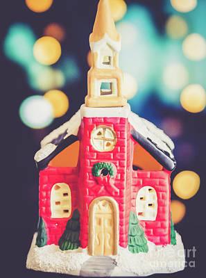 Photograph - Christmas Chapel 3 by Andrea Anderegg