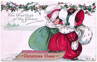 Drawing - Christmas Cheer Vintage  by R Muirhead Art