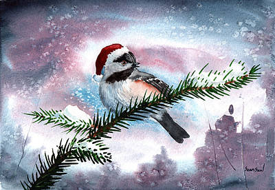 Christmas Chic Art Print by Sean Seal