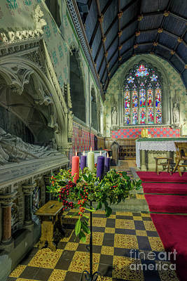 Photograph - Christmas Church Candles by Ian Mitchell