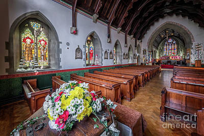 Photograph - Christmas Church Flowers by Adrian Evans