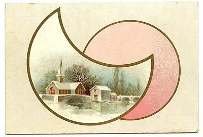 Painting - Christmas Church Vintage Snow Landscape by R Muirhead Art
