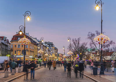 Photograph - Christmas City Lights In Warsaw by Julis Simo