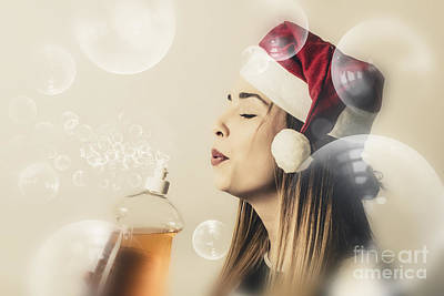 Christmas Cleaning Housewife Print by Jorgo Photography - Wall Art Gallery