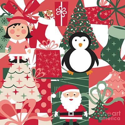 Digital Art - Christmas Collage by Jenny Revitz Soper