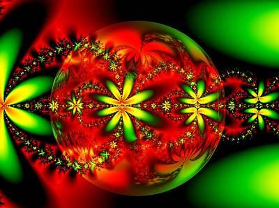 Digital Art - Christmas Colors by Nancy Pauling