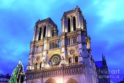 Photograph - Christmas Colors Of Notre Dame De Paris by John Rizzuto