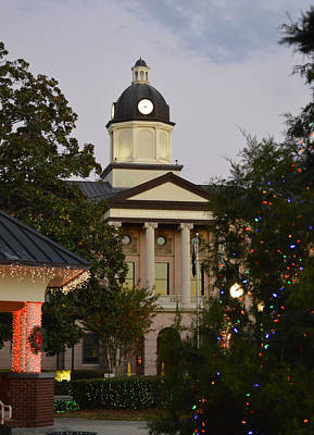 Photograph - Christmas Comes To Olustee Park In Front Of The Columbia County Courthouse by rd Erickson