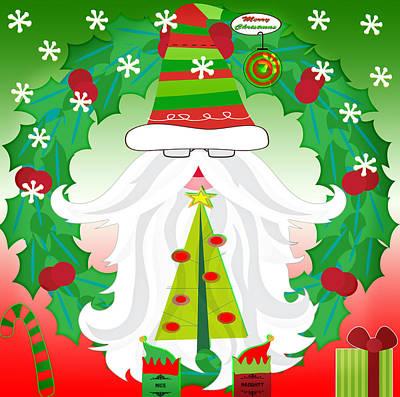Christmas Comtemporary Art Print