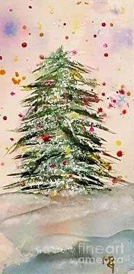 Navidad Painting - Christmas Confetti 2016 by Marta Robin Gaughen