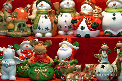 Cookie Jar Wall Art - Photograph - Christmas Cookie Jars Vienna by John Rizzuto