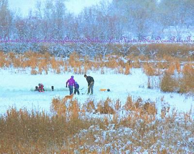 Pond Hockey Digital Art - Christmas Day by Kathy Bassett