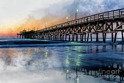 Digital Art - Christmas Day Sunrise Watercolor by David Smith