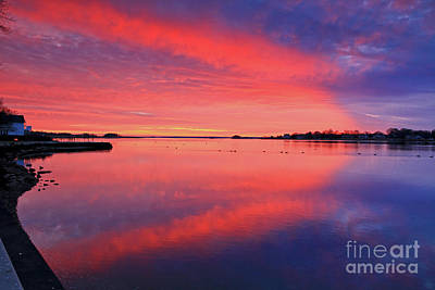 Photograph - Christmas Day Sunset by Butch Lombardi
