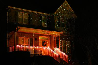 Photograph - Christmas Decorated House by Kathryn Meyer