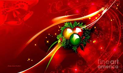 Photograph - Christmas Decorations by Annie Zeno
